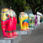 Very colorful Elephant Parade Bangkok