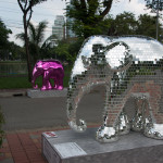 Disco ball elephant