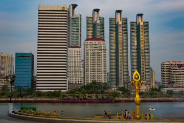 Skyscrapers at Benjakiti Park