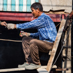 Worker in Klong Toey Slum