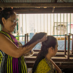 Hair cut in Klong Toey Slum