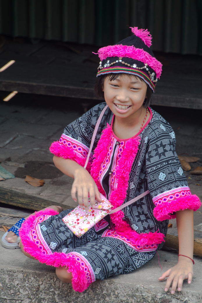 Thai girl in colorful costume
