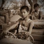 burmese boys abandoned park