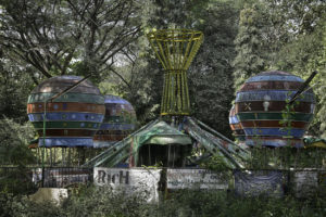 abandoned amusement park ride