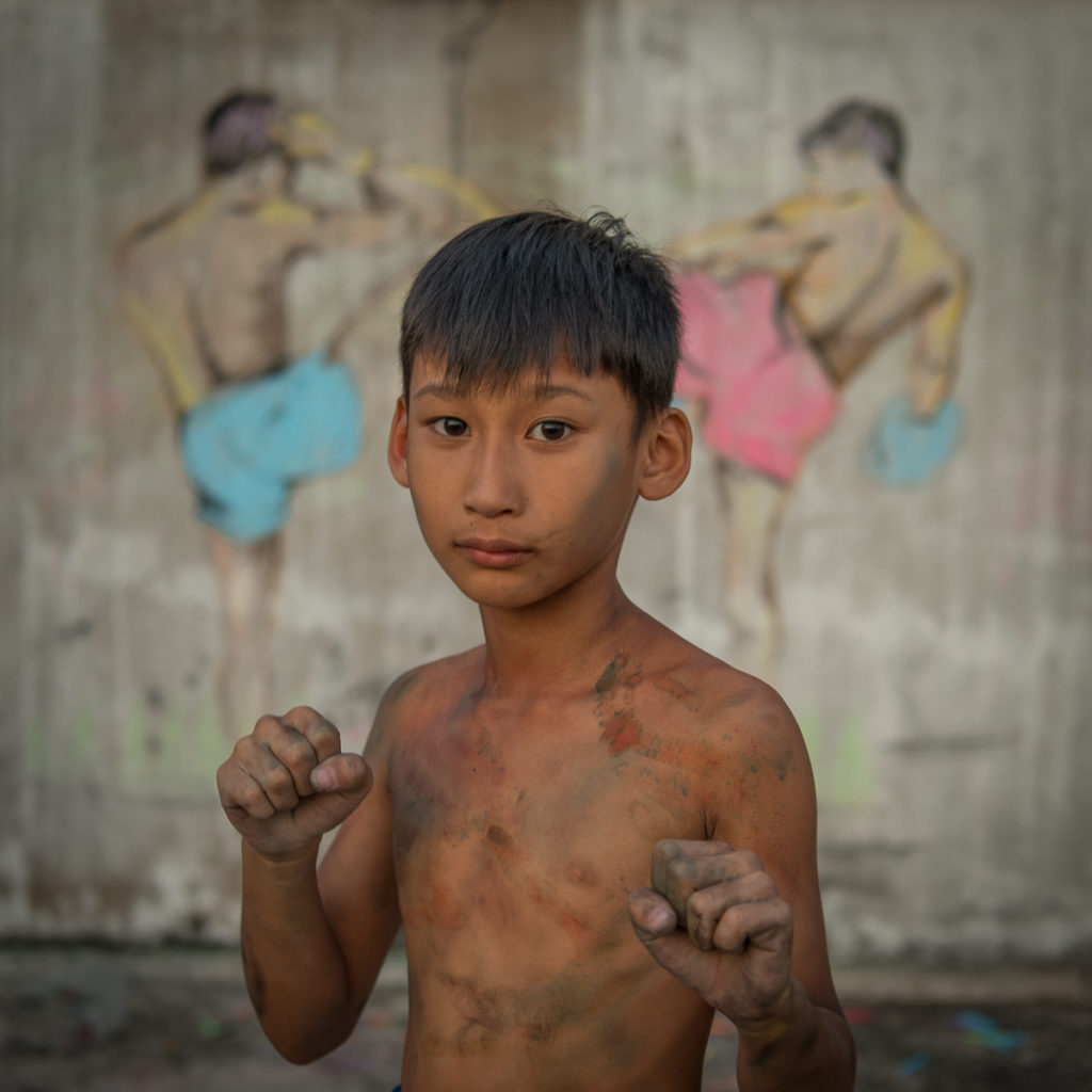 Muay Thai boy shirtless