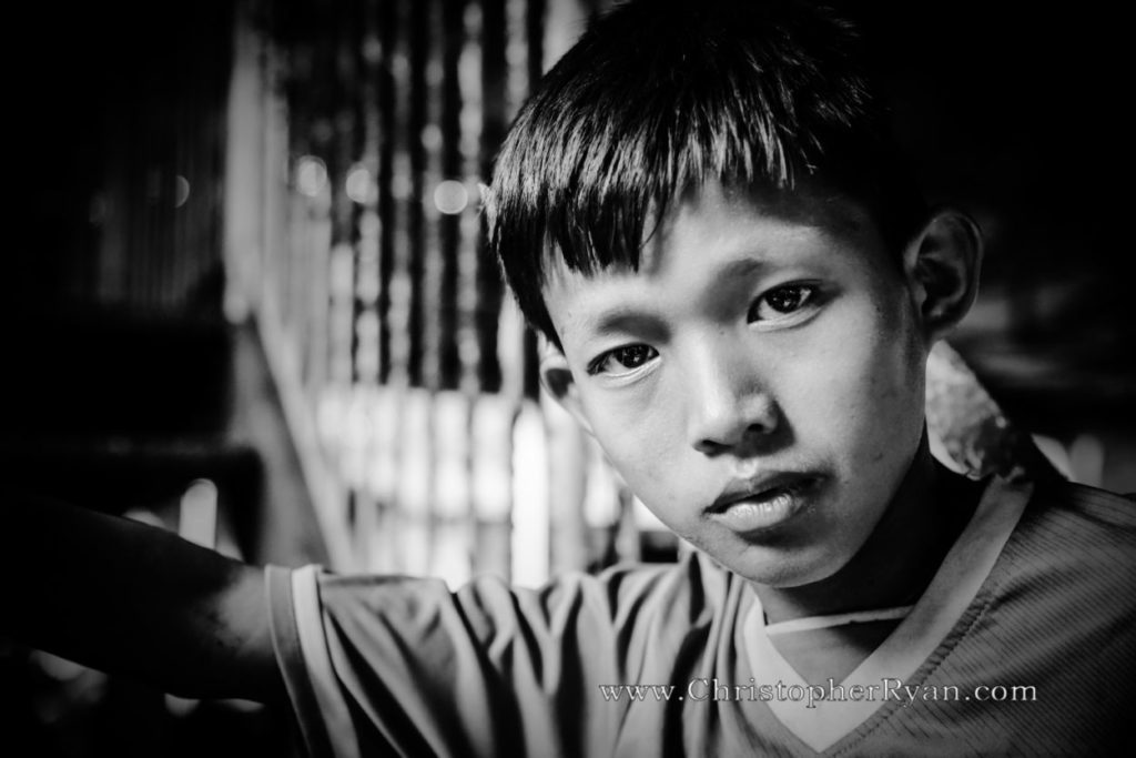 cute young burmese boy