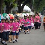 School group at Elephant Parade Bangkok