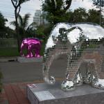 Disco ball elephant