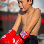 Shirtless Muay Thai Boxing Boy