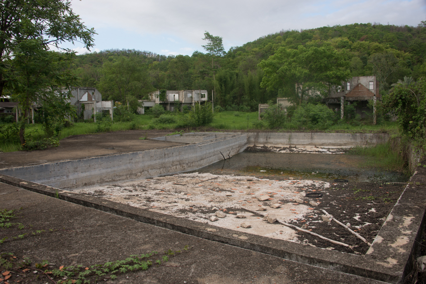 creepy abandoned swimming pool