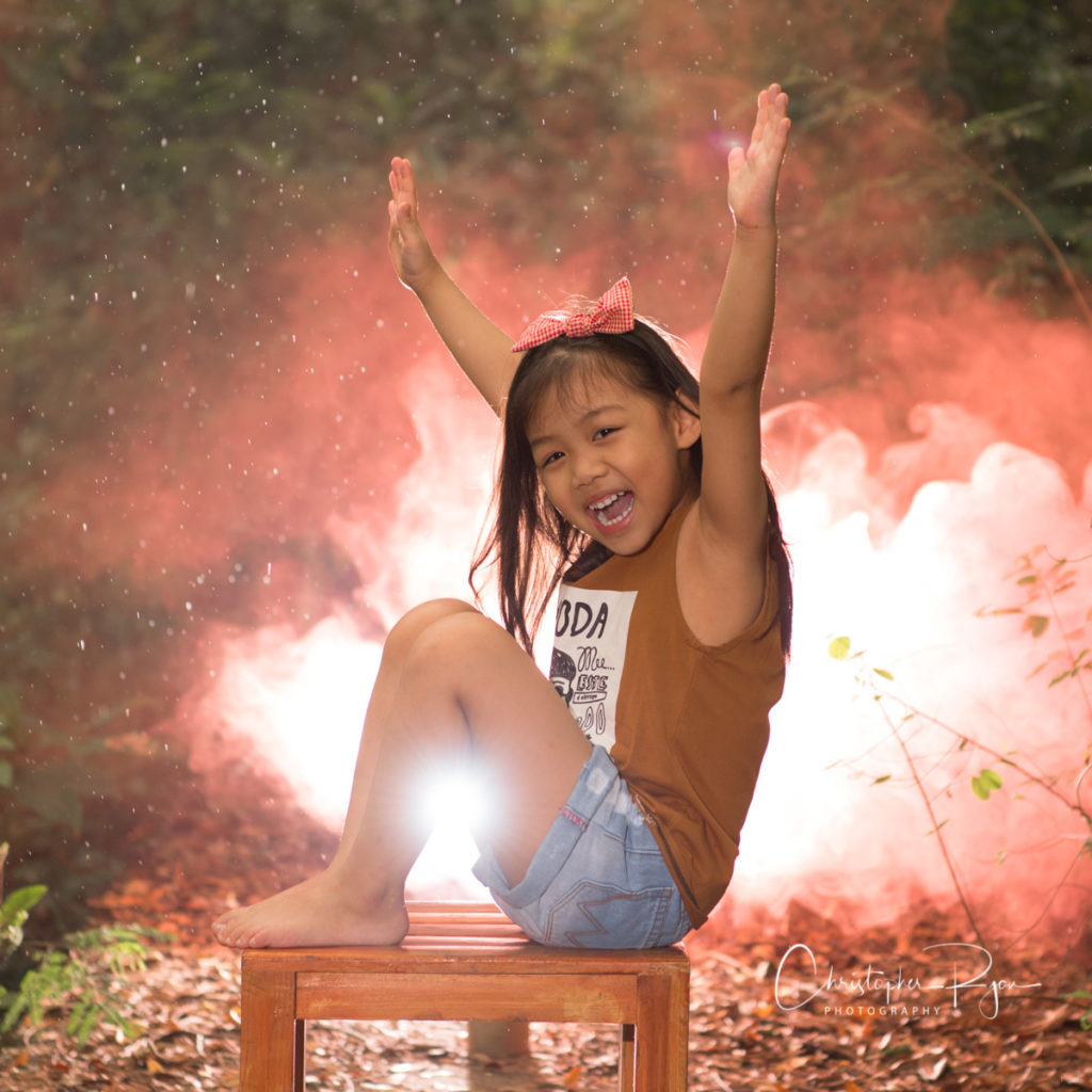 Child Photography with Colored Smoke
