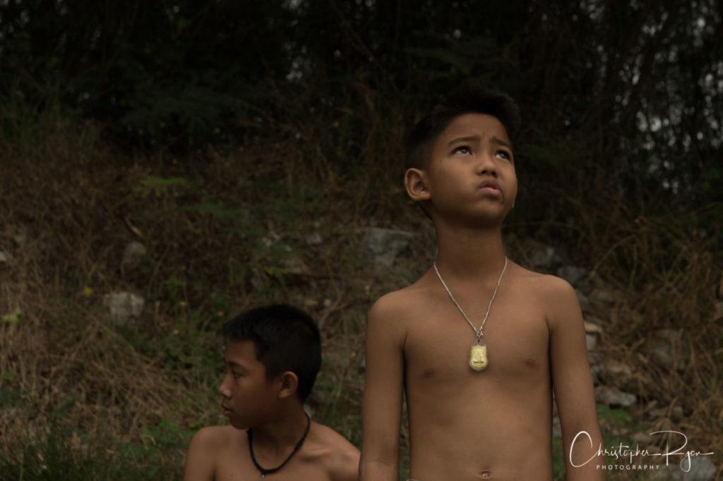 cute shirtless boy wearing amulet