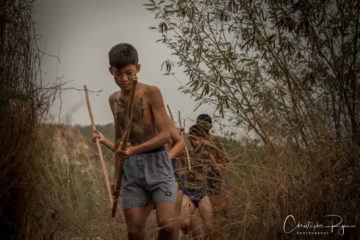 Lord of the Flies boys hunting a pig
