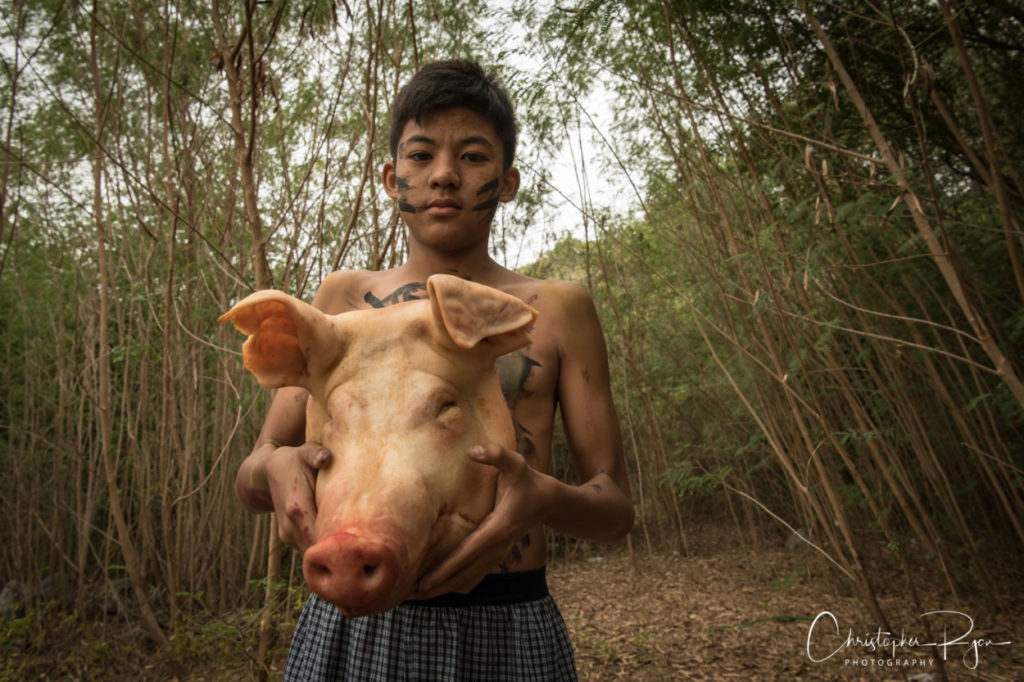 Jack with pig's head