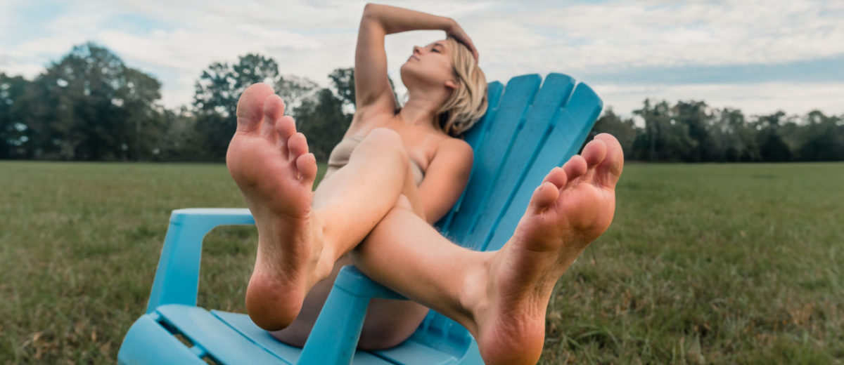 POV os beautiful girl feet