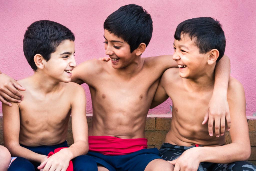 cute boys in gym attire